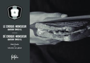 Frifri  De Croque-Monsieur QUATUOR'DWICH XL – Instructies voor gebruik