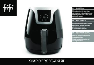 Frifri Het  Hetelucht Friteuse SIMPLYFRY 34 – Instructies voor gebruik