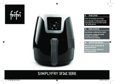 Frifri – SIMPLYFRY 34- Instruction manual